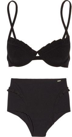 chloé high waisted ruffled bikini