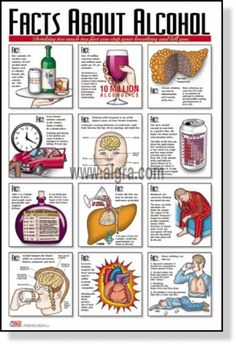 The Alcohol Facts Poster displays some of the important facts about alcohol as a drug. It explains to common minor side effects alcohol has on the human body. It also reminds people not to drive under the influence. This poster is a great tool to educate people about the effects of alcohol in a classroom setting or health related facility.