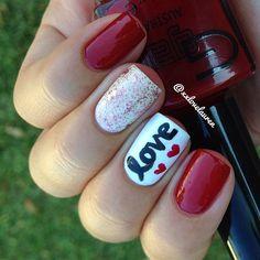 valentine by xxlovelauren #nail #nails #nailart