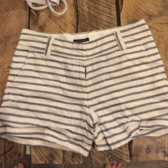Tommy Hilfiger! Striped linen and cotton short. So cute with a red tank! Half linen half cotton, so comfortable Tommy Hilfiger Shorts