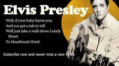 Elvis Presley - Heartbreak Hotel - Lyrics