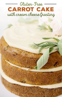 A healthy cake is possible. Sweet Laurel's gluten-free carrot cake is topped with vegan cream cheese frosting. Frosting Recipes, Cookie Recipes, Snack Recipes, Sweet Recipes, Vegan Recipes, Dessert Recipes, Vegan Cream Cheese Frosting, Cake With Cream Cheese, Healthy Cake