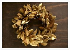 DIY Holiday wreath by Brown Paper Design | DIY Wedding, Flowers + Greenery, Holiday | 100 Layer Cake