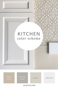 Choosing a whole house color scheme can be overwhelming. Find tips on how to make picking paint colors easy, and create flow throughout your house at the same time. Paint Color Schemes, Kitchen Colour Schemes, Kitchen Wall Colors, House Color Schemes, Bathroom Colors, Colors For Kitchens, Tan Kitchen Walls, Kitchen Paint Schemes, Neutral Kitchen Colors