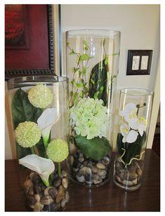 Cylinder Vase Centerpieces, Tall Cylinder Vases, Vase Arrangements, Flower Arrangement, Wedding Centerpieces, Glass Cylinder Vases, Big Vases, Clear Vases, Centerpieces