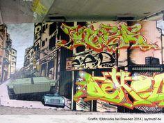 Graffiti, Elbbrücke bei Dresden 2014 Kalligraphie, kaligrafi, Graffiti, calligraffities – Laytmotif schreibt über das schöne Schreiben. Nicht über Nacht hingeschmiert, ischwör! http://laytmotif.de/kalligrafie/