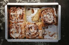 "Cream Cheese Cinnamon Rolls -- ""Spreading cream cheese into the layers of dough enhances the richness and moistness of these rolls."""