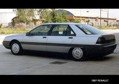 1992 Renault Safrane Prototype from 1987 Automobile, 1990s Cars, Nissan Infiniti, Motor Works, Pre Production, Transportation Design, Retro Futurism, Maserati, Motor Car
