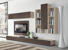 Wall Unit Modern contemporary and stylish tv unit and wall cabinet composition in