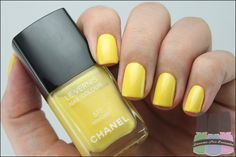 yellow nails #chanel love chanel nail polish its so perfect but sigh why must it be so expensive