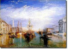 J.W.Turner | The Grand Canal, Venice, 1835 - Direct Art Australia,  Price: $199.00,  Availability: Delivery 10 - 14 days,  Shipping: Free Shipping,  Minimum Size: 50 x 60 cm,  Maximum Size : 100 x 150 cm,  100% Hand Painted Oil Paintings on Canvas!  www.directartaustralia.com.au/