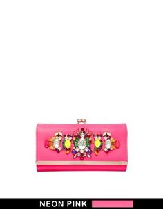 River Island Bright Pink Jewelled Embellished Cliptop