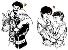 hooray for marriage equality! its about time america caught up with dragon age haha | Hawke and Fenris, Hawke and Merrill