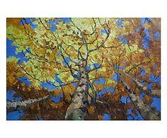 Dipinto a mano su tela Cime d'albero - 90x60 cm