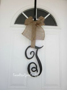 Single Letter Monogram by CarolinaMoonCrafts on Etsy,