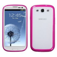 MiniSuit's thermoplastic polyurethane (TPU) translucent case with colored trim is the ultimate accessory for the newest Samsung Galaxy S3 III i9300. Patented hard TPU with black Trim protects your phone with style and safety. Non-slip grip feature o