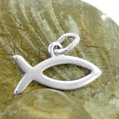 Anhänger, Jesus-Zeichen, Silber 925  Fisch-Zeichen