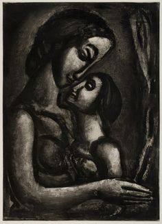 """How Sweet It Is To Love!"" 1922, from the exhibition ""Prints by Georges Rouault,"" Worcester Art Museum. #WorcesterArt"
