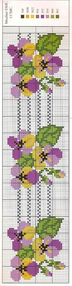 This Pin was discovered by Hav crochet and more by simo: PUNT Discover thousands of images about miniature needlework chart Cross Stitch Bookmarks, Cross Stitch Borders, Cross Stitch Flowers, Counted Cross Stitch Patterns, Cross Stitch Charts, Cross Stitch Designs, Cross Stitching, Cross Stitch Embroidery, Embroidery Patterns
