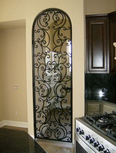 Best Iron Doors: Gorgeous Models & Design to Inspire You Wrought Iron Staircase, Wrought Iron Decor, Wrought Iron Gates, Iron Front Door, Iron Doors, Tuscan Decorating, Interior Decorating, Tuscan Style, Tuscan Design