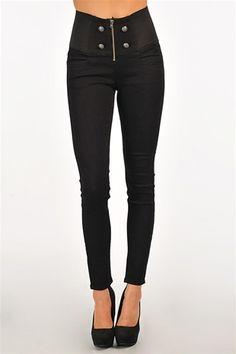 Playdate High Waist Jeans - Black