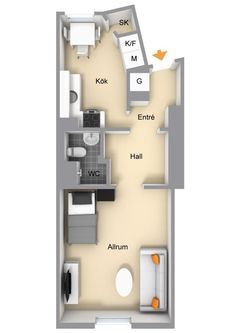 Design pur dans un studio: 40 square meters apartments