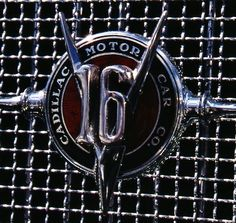 1931 Cadillac V-16 grill badge.  Photography by David E. Nelson