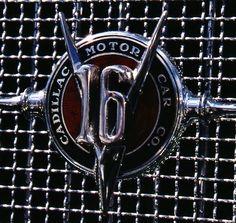 1931 Cadillac V-16 grill badge.  Photography by David E. Nelson