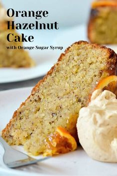 Give this dense, super moist orange hazelnut cake a try! The easy orange sugar syrup for cakes makes this one of the most … Food Cakes, Cupcake Cakes, Cupcakes, Orange Syrup Cake, Baking Recipes, Dessert Recipes, Hot Desserts, Baking Desserts, Plated Desserts