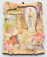 Wall Plaques using Special Gold Foil Techniques and Wall Plaque depicting the Apparitions, Holy Family, the blessed Virgin Mary with Hold Child along with many more. Our Lady Of Lourdes, The Cross Of Christ, Blessed Virgin Mary, Wall Crosses, Wall Plaques, 2d, Catholic, Roman Catholic