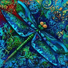 Blue Dragonfly  David Galchutt