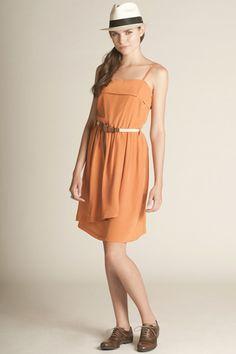 #amourvert dress, orange, oxfords
