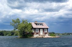 Weekend Cabin: How's this for rad — the aptly named 'Just Room Enough Island'. http://www.adventure-journal.com/2014/08/weekend-cabin-just-room-enough-island-ontario/
