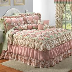 BrylaneHome Bedspread-in twin Shabby Chic Bedrooms, Shabby Chic Furniture, Shabby Chic Decor, Designer Bed Sheets, Doll Beds, Bed Design, Bed Spreads, Luxury Bedding, Interior Design Living Room