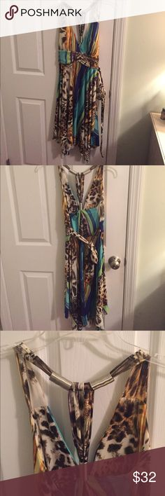 Silky dress Bought from little boutique. Size small, brand new without tags never worn. Great comfy dress for summer! Dresses