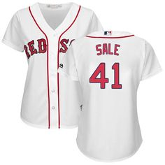 Red Sox  41 Chris Sale White Home Women s Stitched MLB Jersey Baseball  Jerseys b9118b766