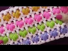 Crochet Stitches Patterns, Crochet Designs, Stitch Patterns, Crochet Crocodile Stitch, Rainbow Crochet, Yarn Shop, Crochet Videos, Crochet Accessories, Baby Blanket Crochet