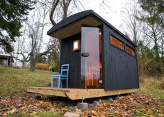 Little sauna design into the middle of forest modern