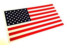 """Color Us Made 3m Reflective American Us Patriotic Flag Sticker Durable USA Decal 4"""" X 2.5"""" Empire Tactical http://www.amazon.com/dp/B00T93TIIE/ref=cm_sw_r_pi_dp_XqR7ub1JJD67Y"""