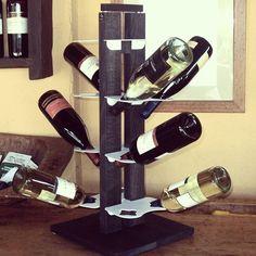 Zia Gaia bottle holder, a small and elegante wine display #bottleholders #Wine #winery #restoration #cantina #vino #liquor #showroom #designmadeinitaly #ziedimilano #leziedimilano #portabottiglie