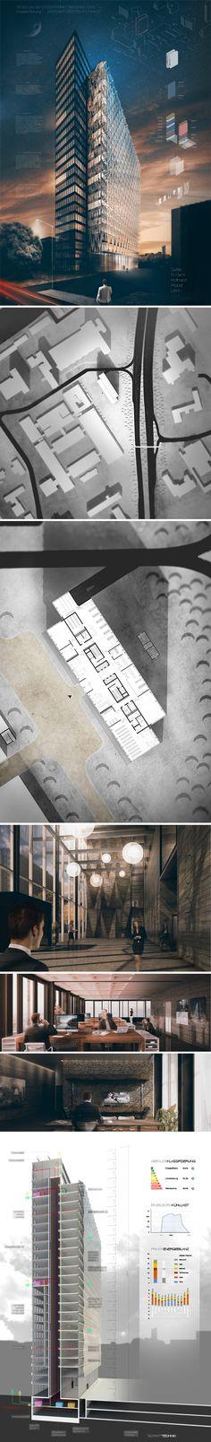 """ENERGIEEFFIZIENTES HOCHHAUS"" VDI WETTBEWERB 2015 — Platz 1 integrale Planung Studenten 7. Semesters Kevin Gallas Mayer (A) Ali Tarek Ali El-Elemi (A) Kai Hofmann (BI) Sebastian Probst (BI) Eva Ullrich (TGA) HS Coburg"