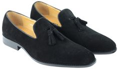 Original Black Suede Leather Tassel Loafers Slip Ons Brogues Toe Shoes for Men's - Dress/Formal Blue Suede Loafers, Suede Leather Shoes, Tassel Loafers, Leather Tassel, Loafer Shoes, Black Suede, Toe Shoes For Men, Formal Shoes For Men, Up Shoes