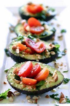 mini avocado salads