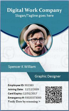 Download Free Multipurpose Office ID Card Template PSD. This ...