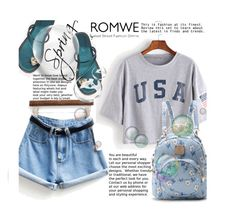 """""""ROMWE 6/XIII"""" by saaraa-21 ❤ liked on Polyvore featuring WithChic, romwe, shop and polyvorefashion"""