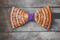 Handmade feather bow ties from #Brackish are old school style with a twist. The…