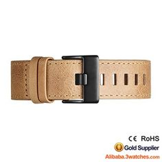 Caramel Genuine leather Watches Strap 3W-S-L17, click picture to designs your own brand watch.