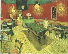 Vincent Van Gogh Most Famous Painting | Vincent van Gogh's Night Cafe in the Place Lamartine in Arles, The ...