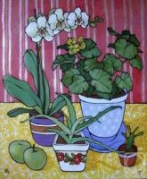 Pen And Watercolor, Watercolor Paintings, Botanical Line Drawing, Beach Artwork, Fruit Art, Summer Art, Silk Painting, Whimsical Art, Art Images