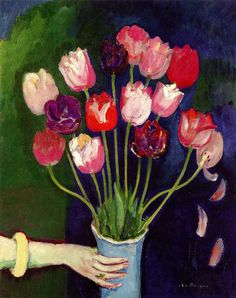 'Vase of Tulips' - by Kees Van Dongen